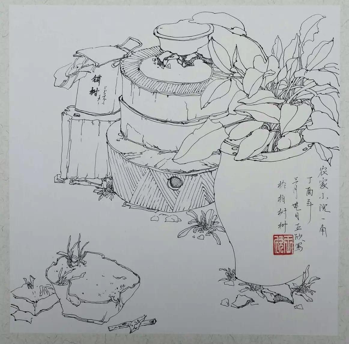 淄博少儿美术中心2017年教师峨庄春季写生集训圆满结束